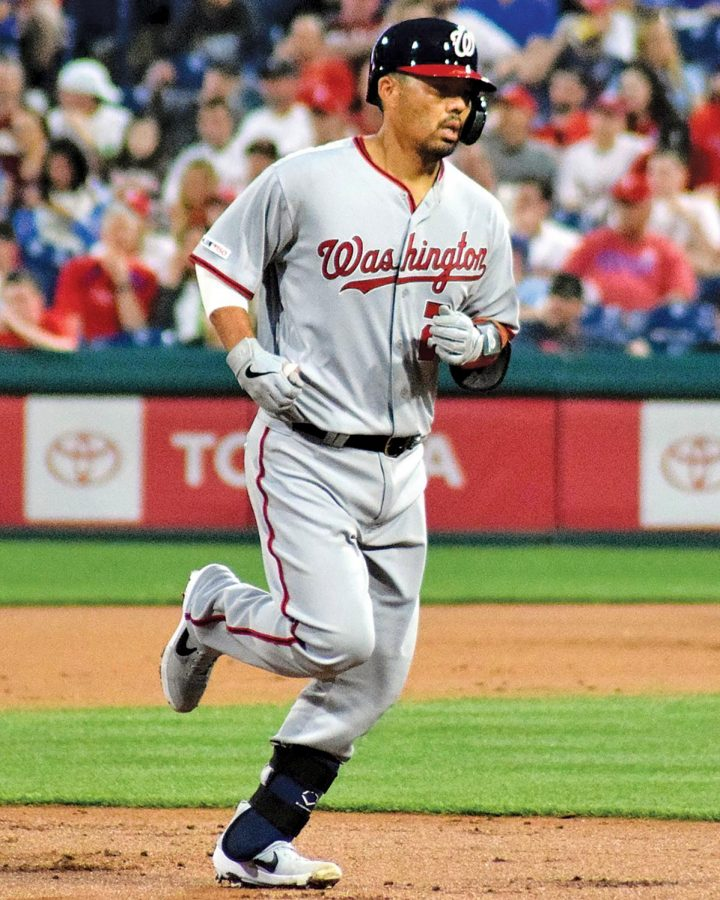 """Washington Nationals catcher Kurt Suzuki made headlines not for his team's World Series title, but for controversial footage that showed him donning Trump's """"MAGA"""" hat during the team's White House visit."""