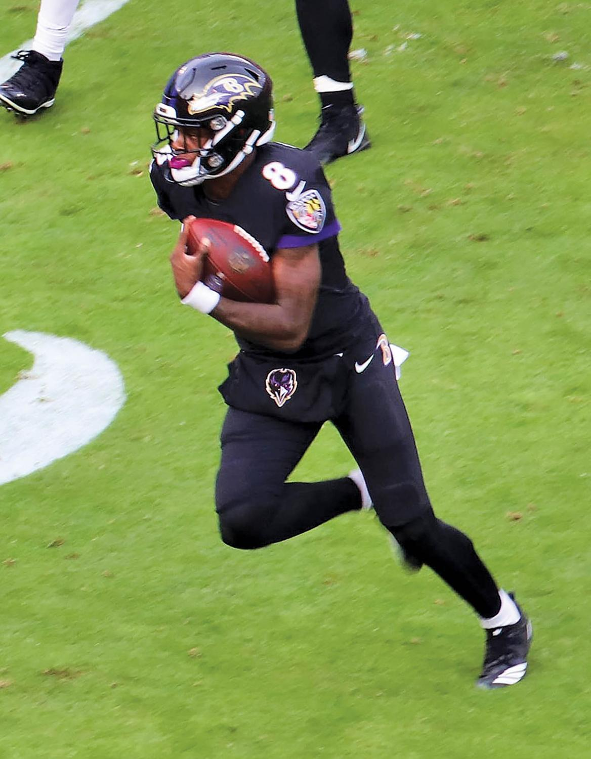 Baltimore Ravens quarterback Lamar Jackson has taken a massive leap in his second year in the NFL. He has led the Ravens to an impressive 8-2 record and is the front-runner for league MVP.