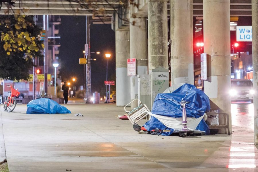Encampments in underpasses were cleared out on Nov. 4. While people's personal belongings were spared, most  items in the encampments were removed.