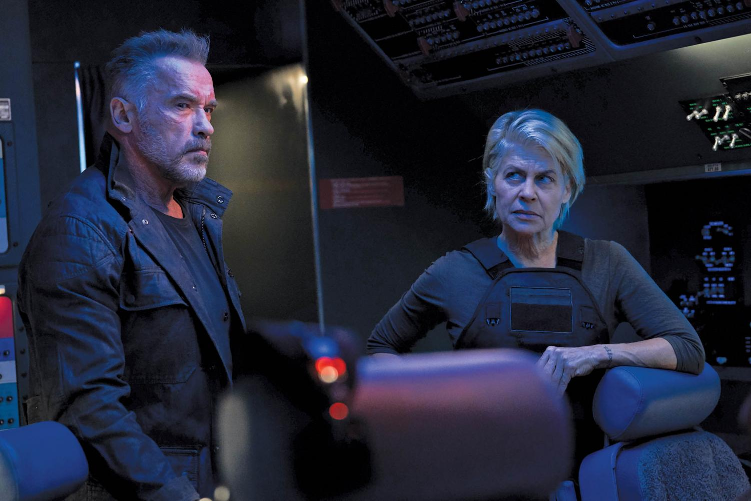 Arnold Schwarzenegger (left) and Linda Hamilton are back together for 'Terminator: Dark Fate.' The movie has earned a 71% on Rotten Tomatoes.