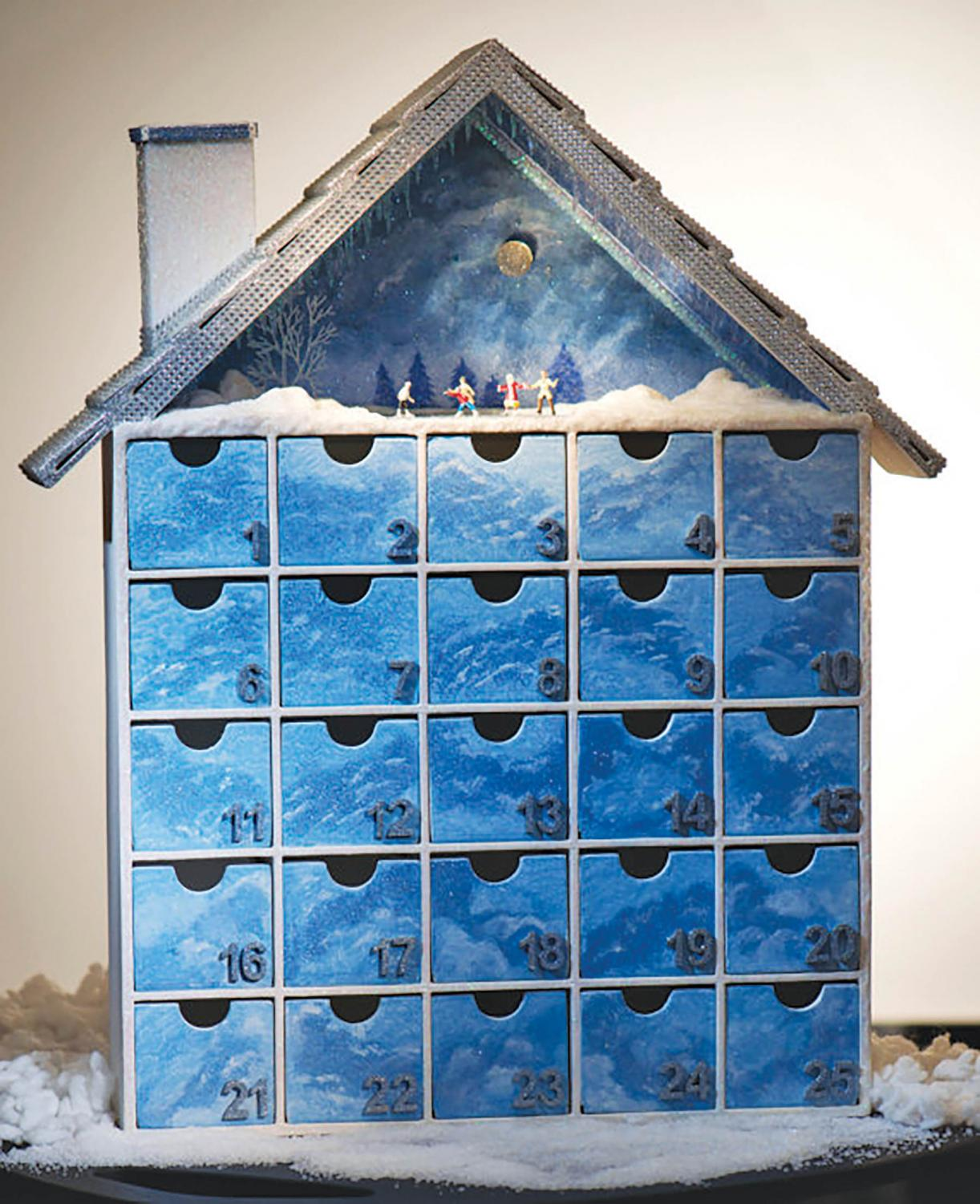 The first known Advent calendar was made in 1851. The traditional treat found under each day is a chocolate candy, but it has expanded over the years.