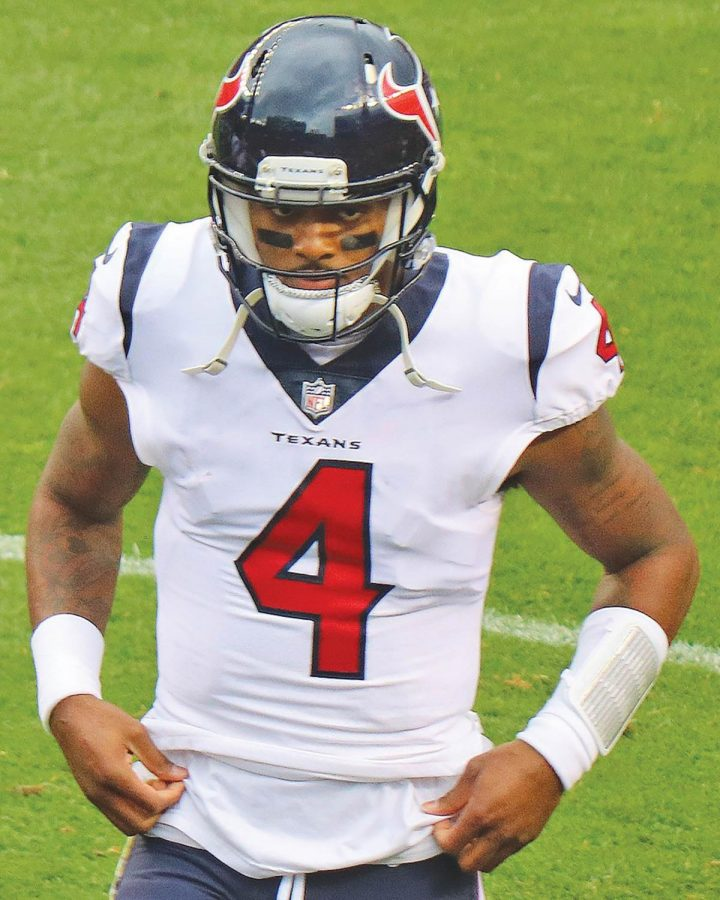 Texans+quarterback+Deshaun+Watson+is+only+the+second+quarterback+this+season+to+defeat+the+10-2+Patriots.+With+an+8-4+record%2C+Watson+is+leading+the+Texans+to+the+top+of+the+AFC+South.