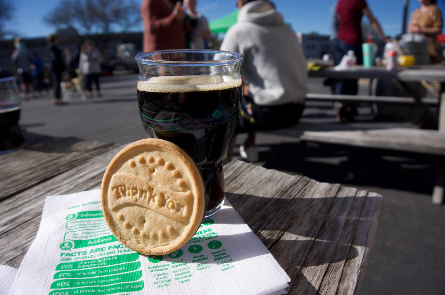 Girl Scout Cookie season only lasts until April, so go out and get your cookies before they're gone. The Circle Brewing taproom is kid and dog friendly, making for the perfect family spot.
