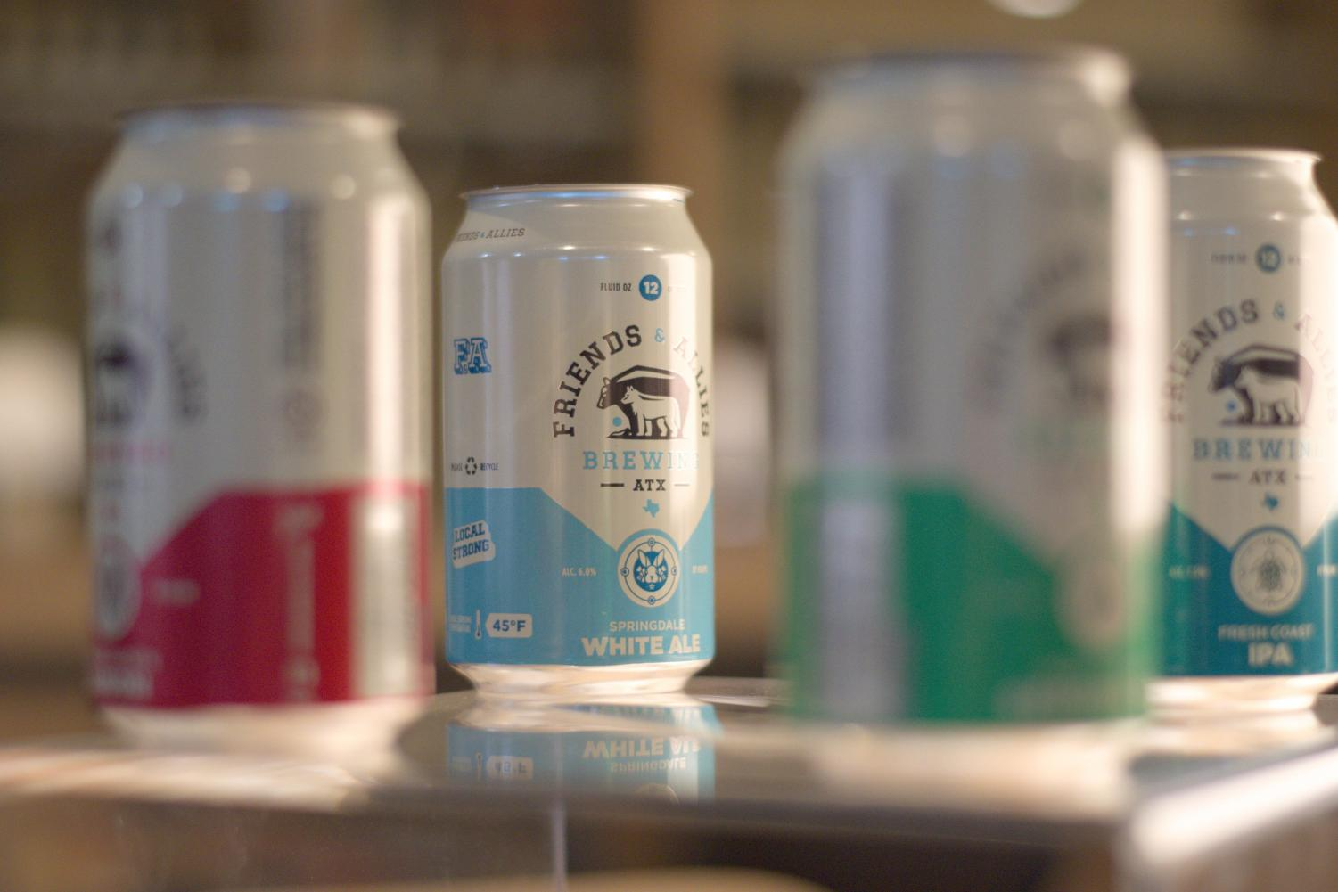 Friends and Allies brewing was founded by Ben Sabin and Devon Ponds. The company focuses on West Coast brewing techniques that are suitable for Austin's warm and summery weather.