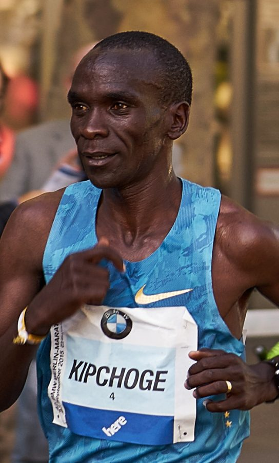 """Recognized as the greatest marathon runner of the modern era, Eliud Kipchoge and other athletes have been criticized for setting records by """"technology doping."""""""