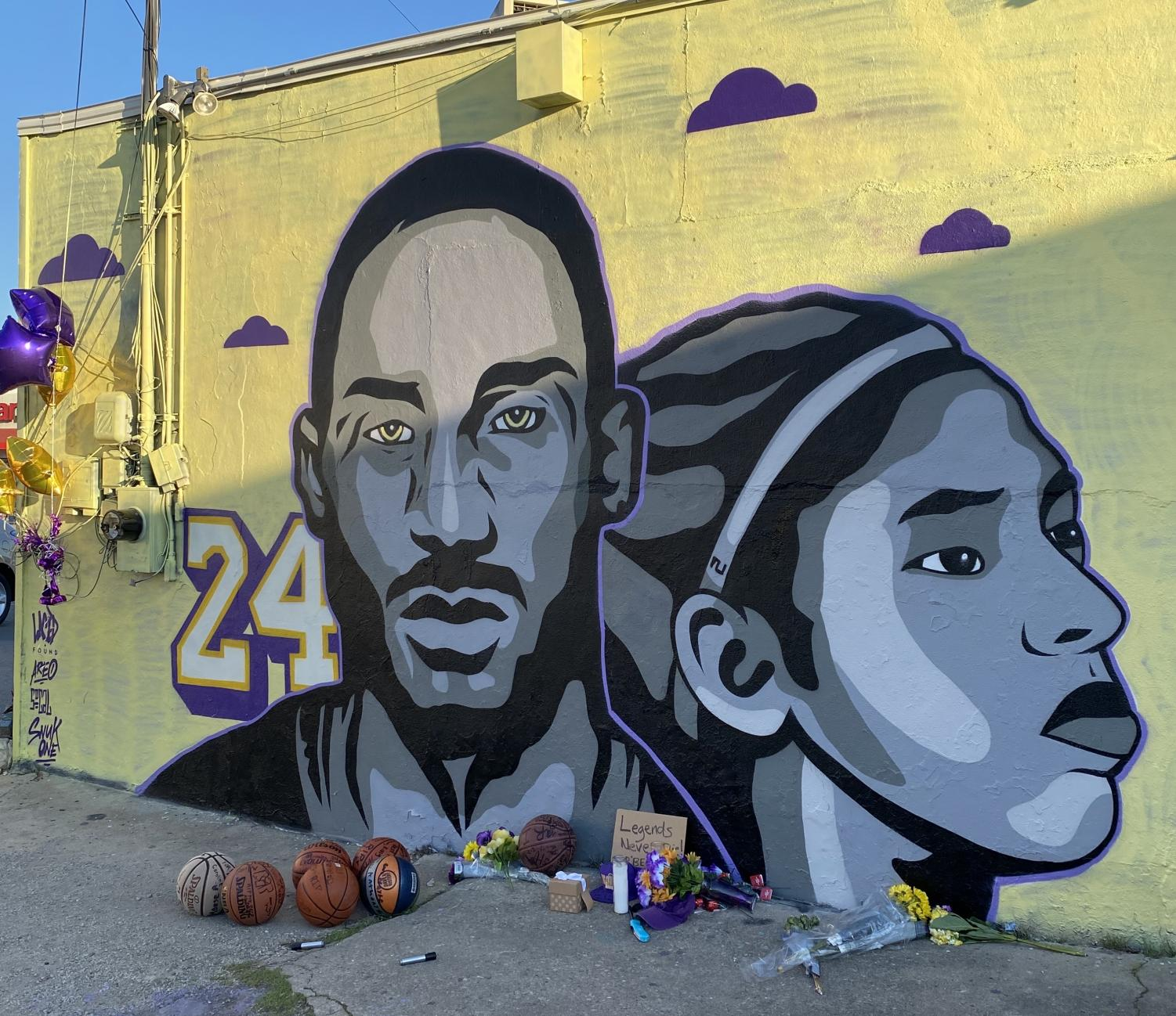 Local artists quickly worked to honor the NBA legend. Murals have popped up across the country.