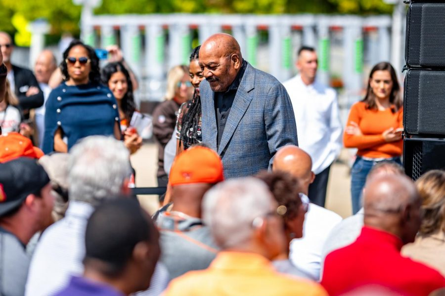 NFL legend Jim Brown is one of the most storied running backs in league history. Brown sits sixth all-time in rushing touchdowns with 106 and has earned three MVPs.