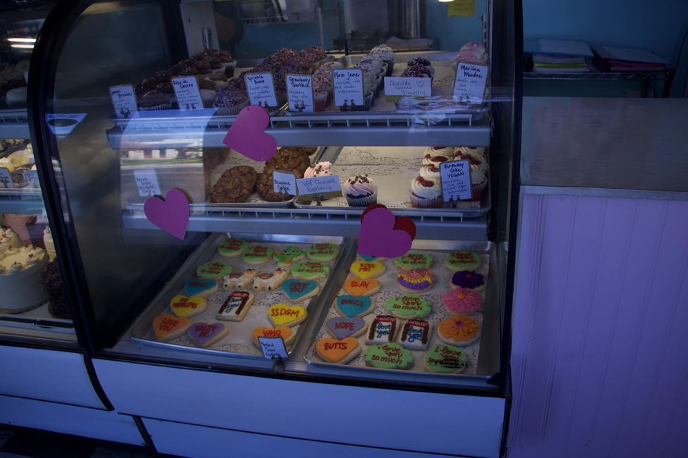 Full case of desserts: In addition to cupcakes, the bakery offers cookies and cakes, as well as vegan and gluten-free options.