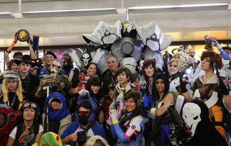 Attendees of the 2016 New York Comic Con gather in celebration of pop culture. Overwatch featured under the video games section, but its increasingly popular league schedule is now under threat from the coronavirus.