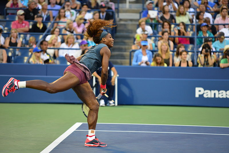 Serena+Williams+serves+during+a+2013+US+Open+match+at+Flushing+Meadows%2C+New+York.+She+is+the+most+accomplished+tennis+player+of+the+open+era+%E2%80%94+male+or+female+%C2%AD%E2%80%94+with+23+Grand+Slam+titles+to+her+name.