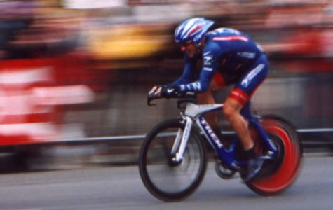 Lance Armstrong racing in the Tour De France. All seven of Armstrong's Tour De France titles have been stripped after it was discovered he was doping during every race.