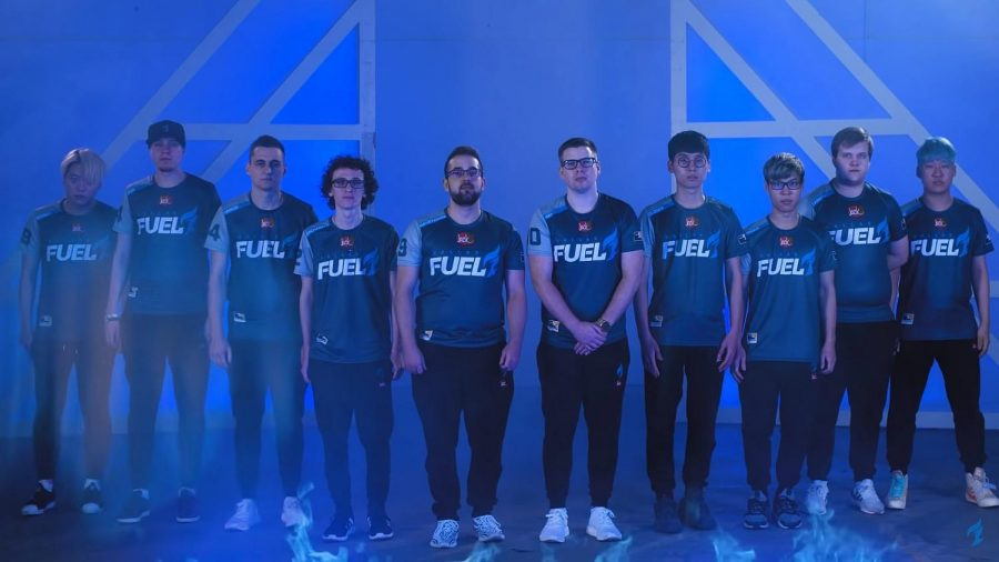 The Dallas Fuel's roster pictured before the start of the 2019 season. This year, they are starting to build up momentum after a disappointing 0-2 start.