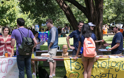 Students gather on Rags lawn to partake in The Involvement Fair. The event is a chance for clubs to reach out to potential members and share what their club does and how students can get involved. If you are looking for information on what your club is doing for the rest of the semester due to COVID-19 reach out to them through their Collegiate Link page through MyHilltop.