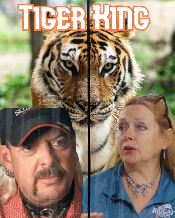 Joe Exotic (left) and Carole Baskin are two of the many big cat owners that the series focuses on. 'Tiger King' was released on Netflix on March 20.