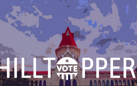 Hilltopper's Vote promotes 2020 election coverage in the newsroom. The coverage will focus on what the St. Edward's community looks for in candidates.