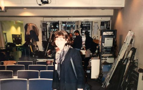 Professor Jena Heath in the White House Press Briefing Room in 2000. Jena Heath is an associate professor in the School of Arts and Humanities at St. Edward's University.