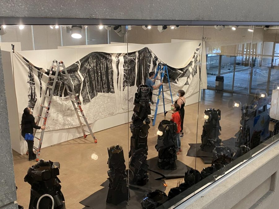 'A Dark Wood Grew Inside of Me' will be on display until Dec. 3 and is the first collaboration between Hammond and West. Hammonds is a professor of art, while West is an associate professor of creative writing.
