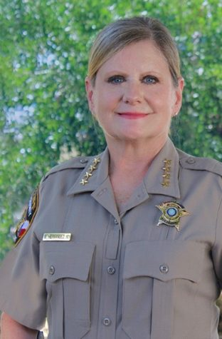 Sheriff Sally Hernandez studied criminal justice at St. Edward's Univeristy. She is currently campaigning for her reelection as Travis County Sheriff.