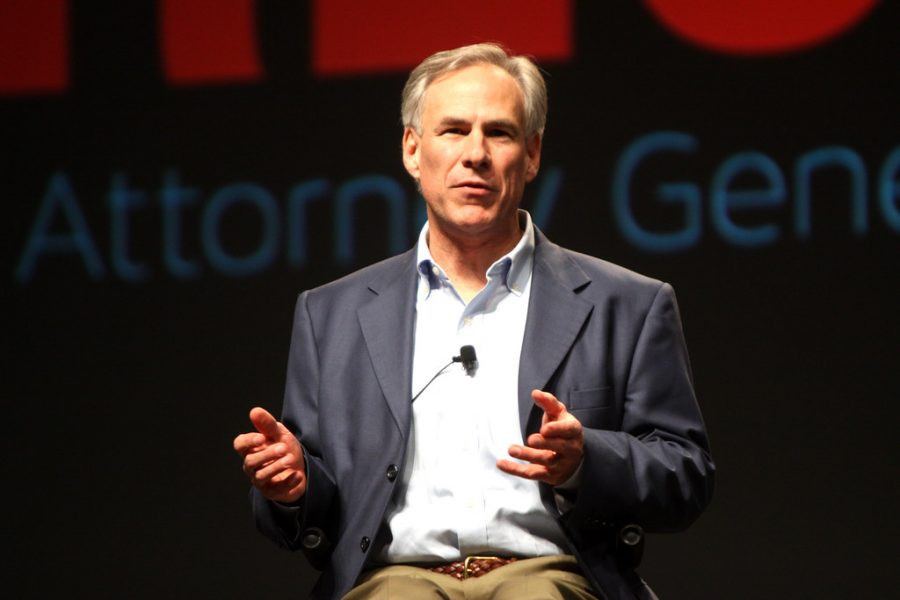 Picture of Texas Governor Greg Abbott.