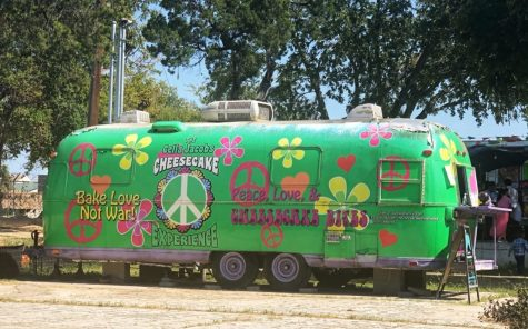 Located off South Congress Avenue, The Celia Jacobs Cheesecake Experience offers cheesecake bites in over 50 flavors from a colorful 60s-themed trailer.