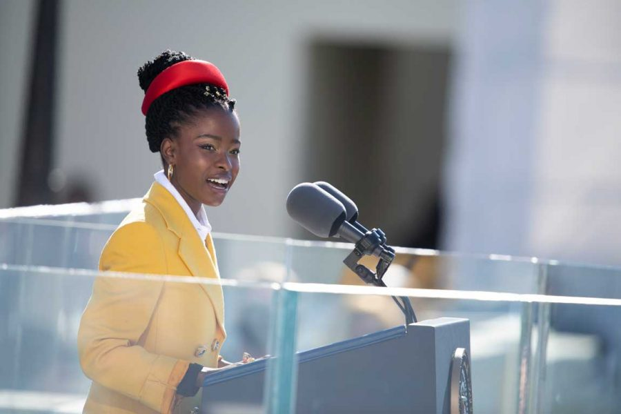 Amanda Gorman is a poet and activist. Gorman is the youngest inaugural poet ever and recited at President Biden's inauguration.