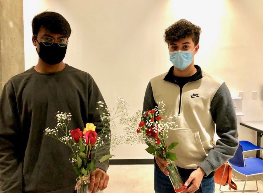 Students gathered socially distanced-style in the Multipurpose Room on campus to receive flowers to arrange in a vase of their choosing. Continuing in-person campus events in safe ways helps students to still be able to socialize.