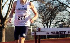 Chaplin competes for the Hilltoppers at a recent track meet held at Trinity University. The team will compete at meets at Rice and the University of the Incarnate Word before heading to the Lone Star conference tournament at West Texas A&M next month.