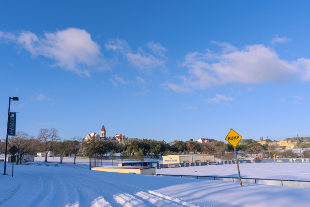 St. Edward's University picture from East Hall after the historic winter storm.