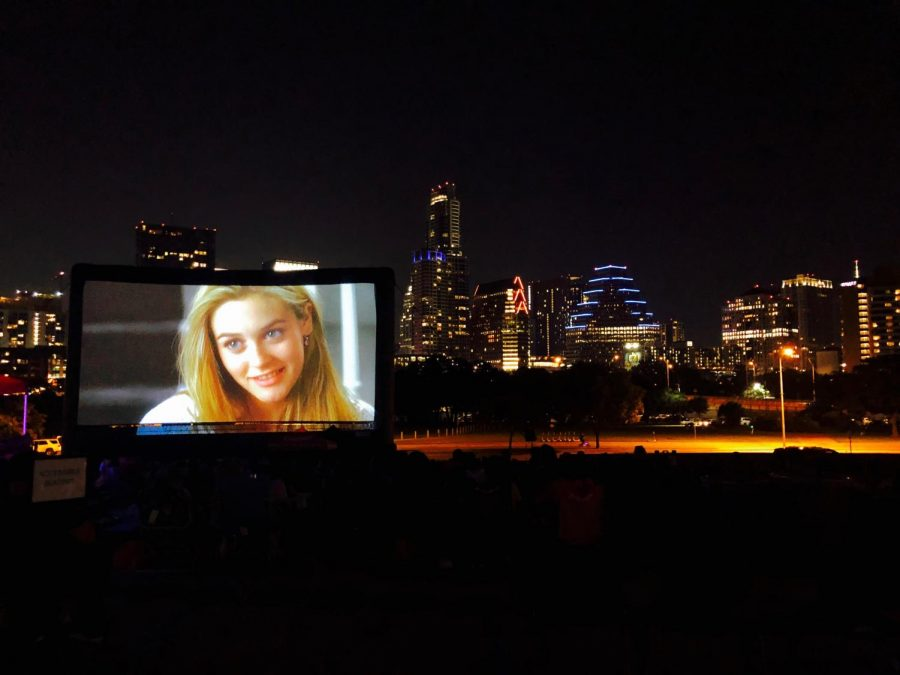 """Sound and Cinema"""" is a series of live music accompanied by the showing of a film at the Long Center Lawn. Last Friday, local band Darkbird performed before a showing of  """"Clueless."""""""