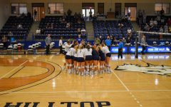 St. Edwards womens volleyball team prepares for their home opener against Texas A&M Commerce.