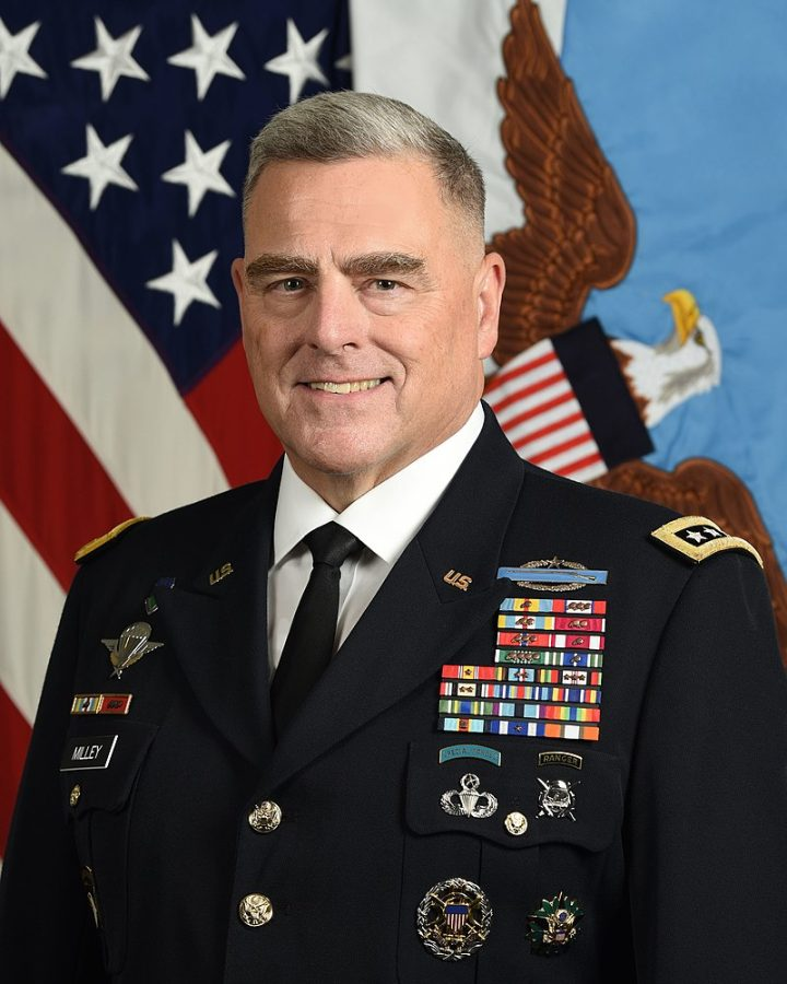U.S. Army Gen. Mark A. Milley, 20th Chairman, Joint Chiefs of Staff, poses for a command portrait in the Army portrait studio at the Pentagon in Arlington, Va., Sept. 26, 2019.